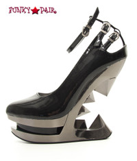 SteamPunk Footwear Wedge Platform Pump (Sheen)