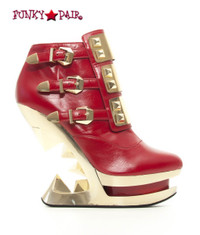 SteamPunk Sale Wedge Platform Ankle Boots (Gleam)