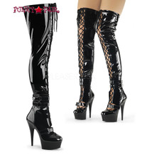 Delight-3029, 6 Inch Lace-Up Boots