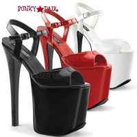 Tramp-709, 7.5 High Heel Ankle Strap Platform Sandal