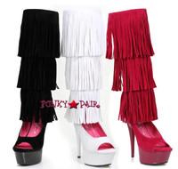 609-Hopi, 6 Inch Fringe Boots Sandal