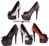 609-Jezebel, 6 Inch satin Pump