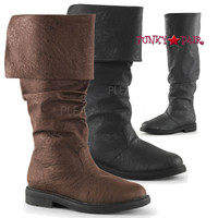 Robinhood-100, 1 inch Cuff Knee High Boot