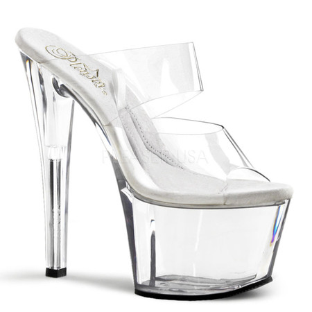 TREASURE CHEST-702, 7 Inch high heel with 2.75 inch platform Double Strap with Compartment from the Insole