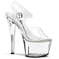 TREASURE CHEST-708, 7 inch high heel with 2.75 inch platform Ankle Strap Sandal