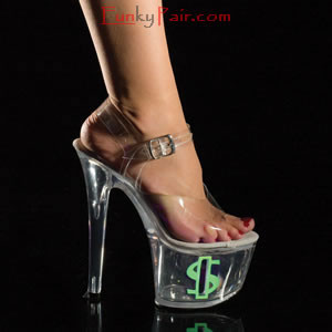 tip jar7088 7 inch high heel with platform shoes with