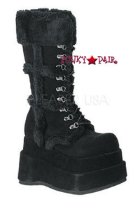 BEAR-202, black goth Women gothic boots Mady By Demonia