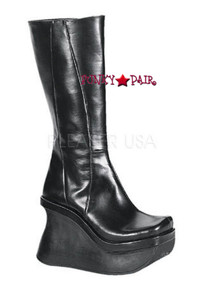 PACE-100, 4.5 inch Wedge Heel, Platform Knee Boots