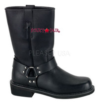black punk boots (HARNESS BOOT)