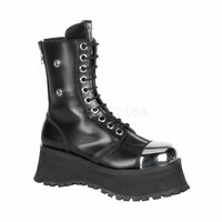 POLE CLIMBER-10, Steel Toe Demonia Gothic