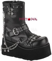 CLASH-430, Clash-430, goth platform boots with chain Women gothic boots Mady By Demonia