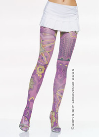 7415, Opaque Retro Print Tights