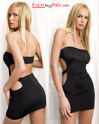 Tube Dress With Cut Off Back * 8549