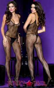 Floral Lace Bodystocking * ML-1117