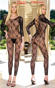 Deep V Back Bodystocking * 8678