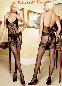 Criss Cross bodystocking * 8472