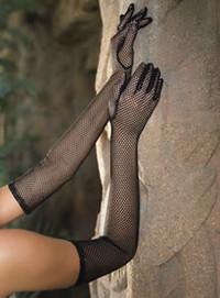 2010, Fishnet long gloves