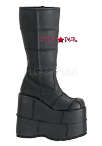 Platform Patch Knee High Demonia Gothic  Boots