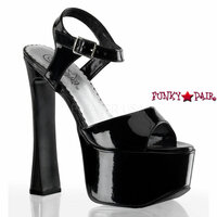 CANDY-09, 6.5 Inch High Heel with 1.75 Inch Platform hunky Heel Sandal