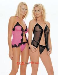 8825Q, Plus size mesh babydoll lingerie