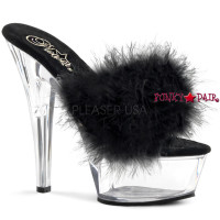 KISS-201F, Sexy Platform Slide Marabou Fur