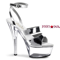 KISS-246, 6 Inch Chrome Ankle Strap Sandal