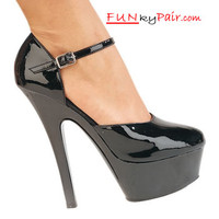 KISS-248, 6 Inch High Heel Close Toe and Close Back Sandal