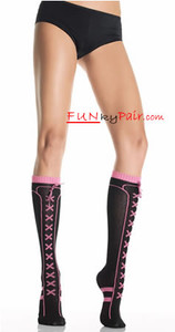 5569, Lurex acrylic sneaker socks w/bow
