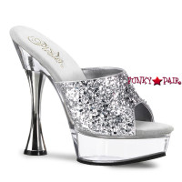 SWEET-401-2, 5.5 Inch High Heel with 1.5 Inch glitter platform shoes
