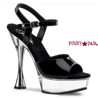 SWEET-409, 5.5 Inch High Heel with 1.5 inch Platform Cone Heel Ankle Strap Sandal