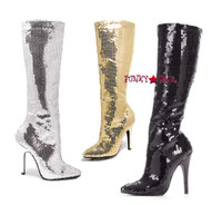 511-Tin, 511-Tin, 5 Inch High Heel Sequins Knee High Boot * Made by ELLIE Shoes