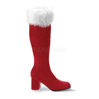 Gogo-300F, 3 Inch High Heel Gogo Boot with Fur Santa Boots * Made by FUNTASMA