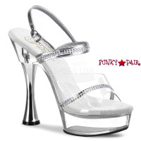 SWEET-439, 5.5 Inch Cone Heel Shoes Footwear with Rhinestone