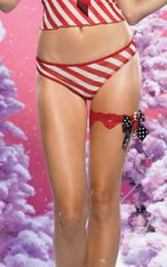 31011, Candy Cane Lace Garter