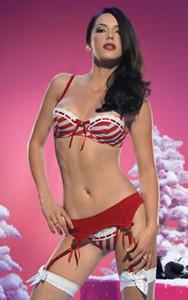 Striped Bikini Garter Set * 31008