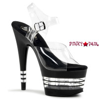 ADORE-708LN, Clear Line Bottom Ankle Strap Sandal