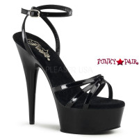 DELIGHT-638, 6 Inch High Heel with 1.5 Inch Platform Knotted Strap Sandal with  Ankle Wrap
