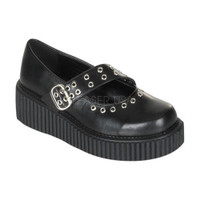 Eyelet Platform Creeper Shoes Made by Demonia