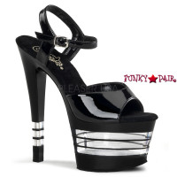 SKY-309LN,7 Inch Heel Strap Lined Shoes