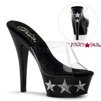 KISS-201-3, 6 Inch Platform Slide with Glitter Stars