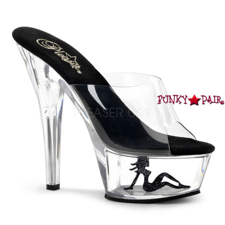 KISS-201TG, 6 Inch Sexy Platform Slide with Truckgirl