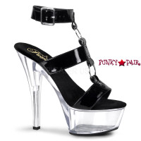 KISS-239, T-Strap with O ring and Buckled Ankle Wrap Sexy Sandal