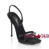 CHIC-38, 4.5 Inch High Heel with 1/4 Inch Platform Slingback Sandal Made By PLEASER Shoe