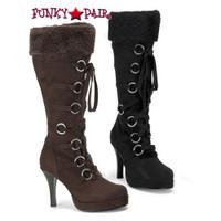 HUNTER-200 * 3.75 Inch Heel Platform Knee High Boot with Fur * HUNTER-200