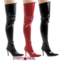 3.75 Inch Stiletto Heel Thigh High Boots * LUST-3000 size 6-12 Made by Pleaser