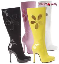 LA426-LOVECHILD * 4.5 Inch High Heel Daisy Flower Gogo Boots * LA426-LOVECHILD