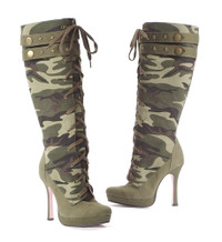 LA426-SERGEANT * 4.5 Inch Canvas Camouflage Knee High Boot