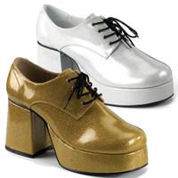 JAZZ-02G, Men Glitter Disco Shoe