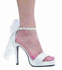 451-Bride, 4.5 Inch High Heel with 1/2 Inch Platform Bridal Shoe Made By ELLIE Shoes