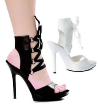 502-Tonic, 5 Inch High Heel Ankle Sandal Made by ELLIE Shoes